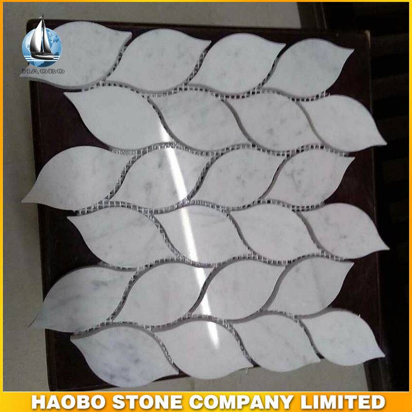 Polished White Marble Mosaic Wall Tiles