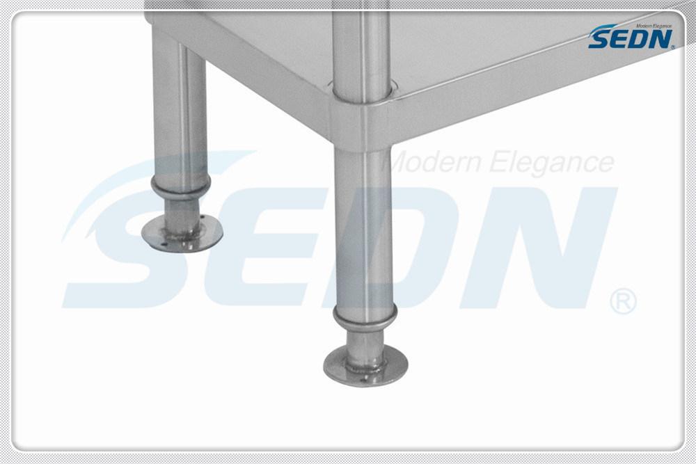 Handmade Commercial Stainless Steel Single Bowl Splashback Sink Benches (MF1003)