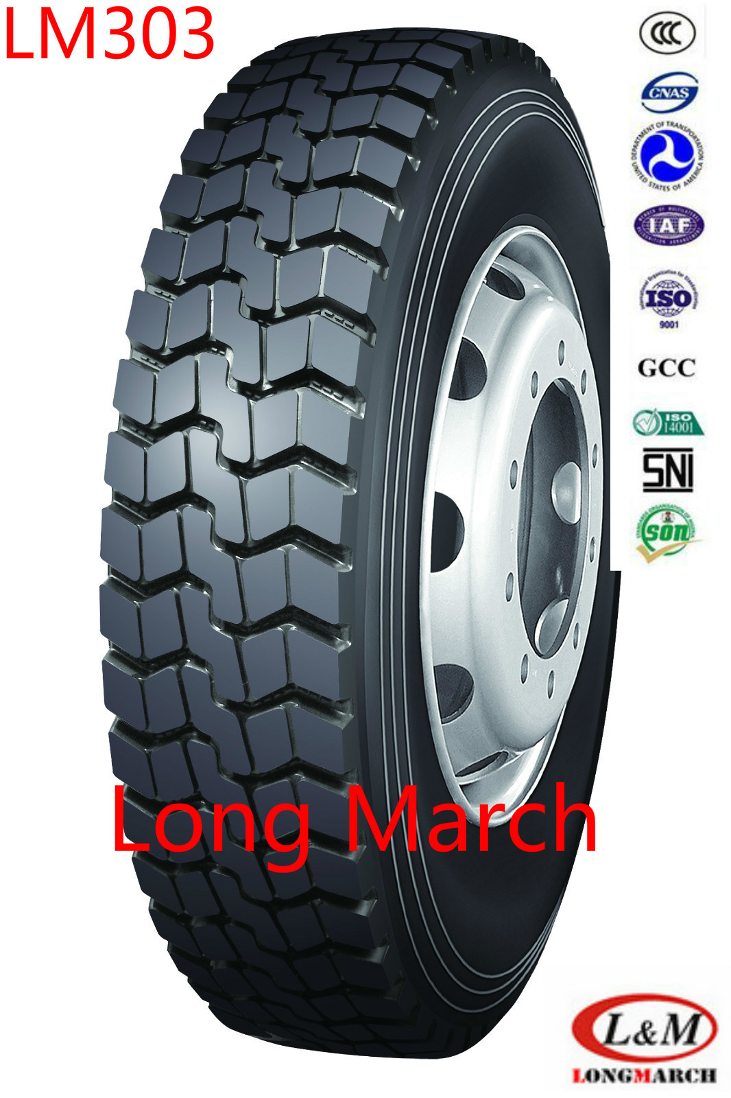 Long March 1200R20 13R22.5 Drive/All Position Radial Truck Tire (LM303)