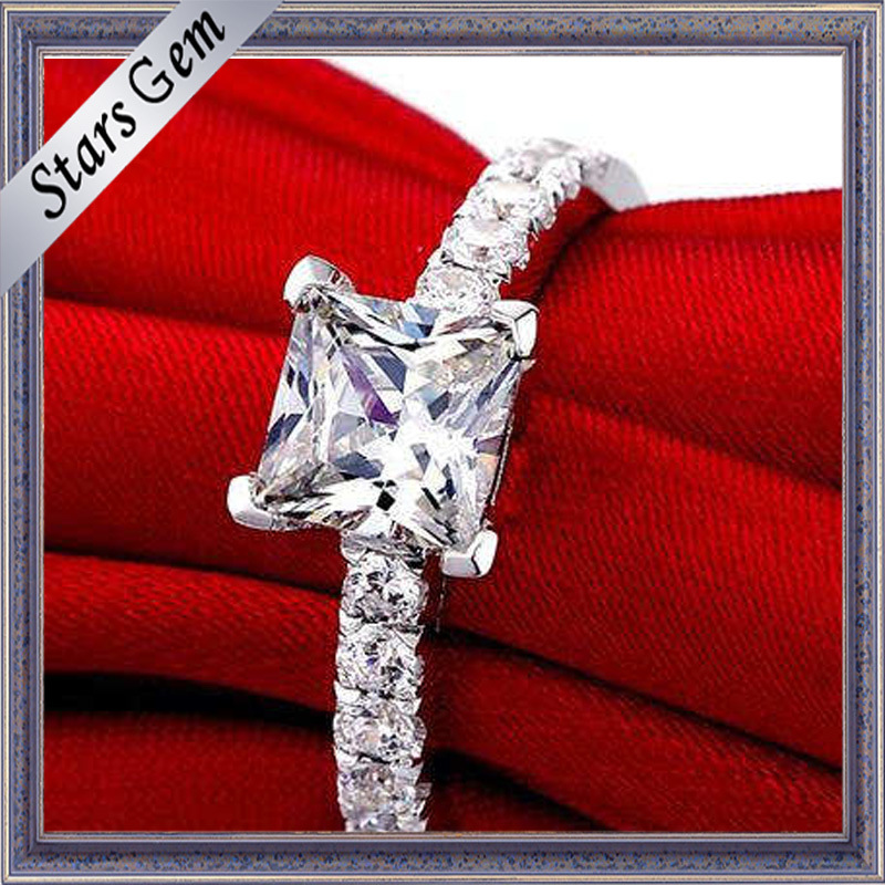 High Quality Silver Romantic Lovers Fashion Ring Wedding Jewellry