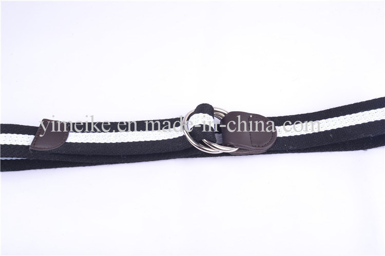 Fashion Style Original Double Loop Buckle Men′s Stock Fabric Belts