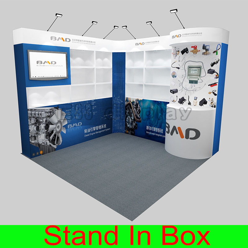 Custom Portable Modular Trade Show Exhibition Stall Design 8FT 10FT