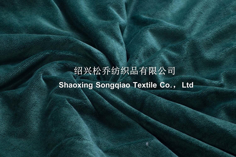 Velour with Shu Velveteen Sherpa Throw -Green