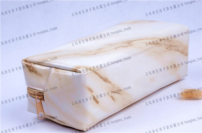 Soft PU Transfer Printing Marbling Cuboid Cosmetic