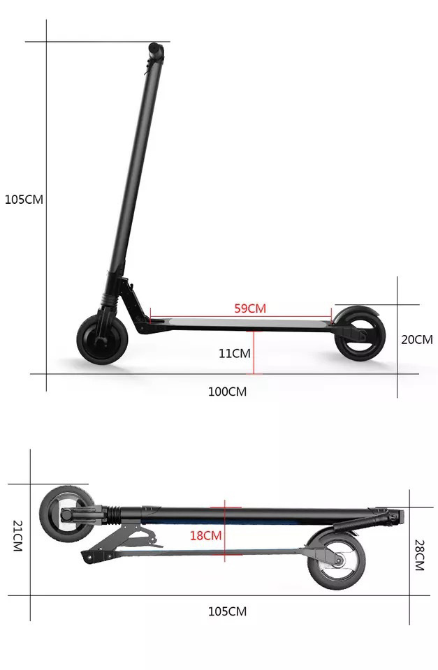 Factory Supply 6.5 Inch Aluminum Alloy Folding Electric Kick Scooter