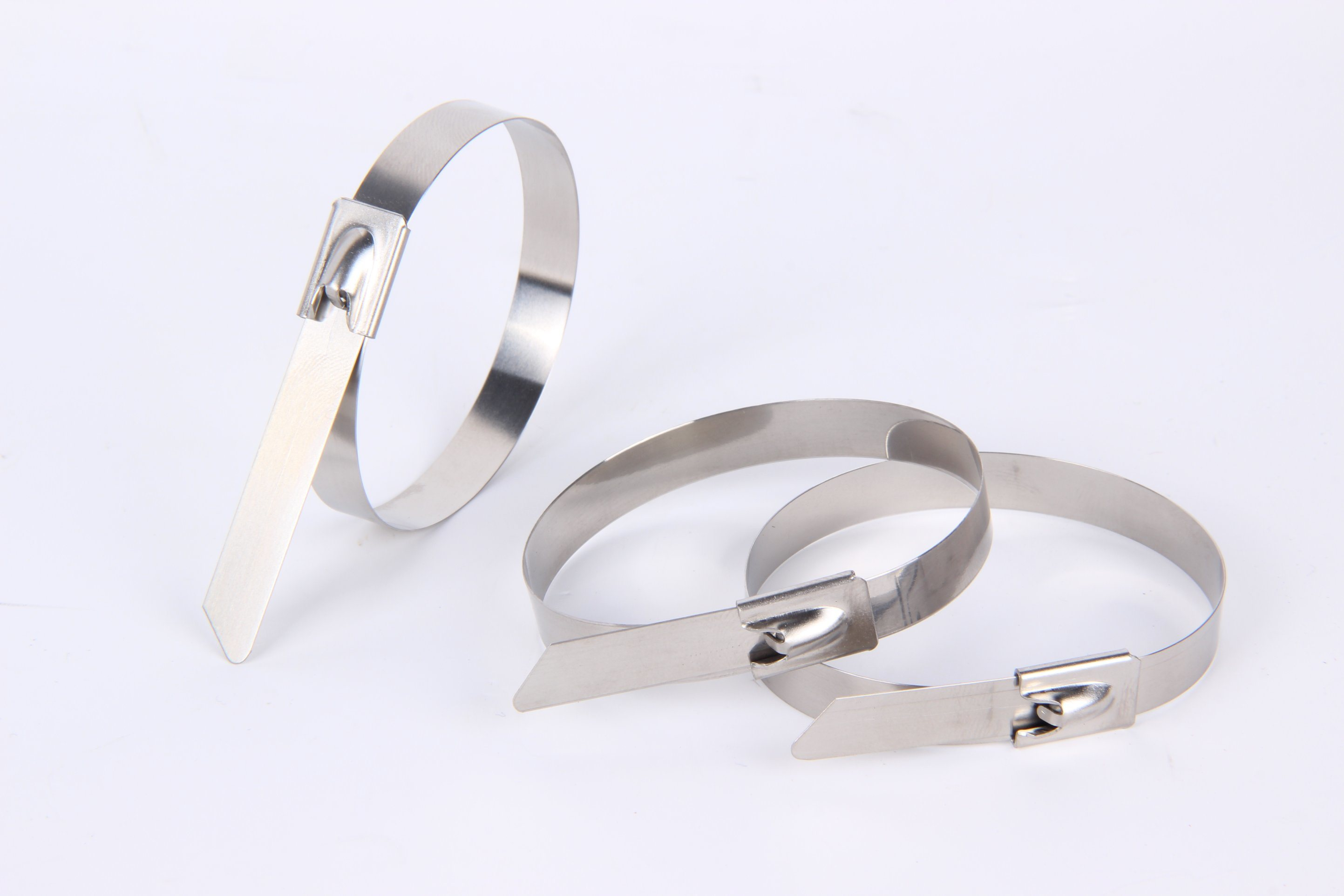 201 304 316 Ball Lock Polyester Coated Stainless Steel Cable Tie
