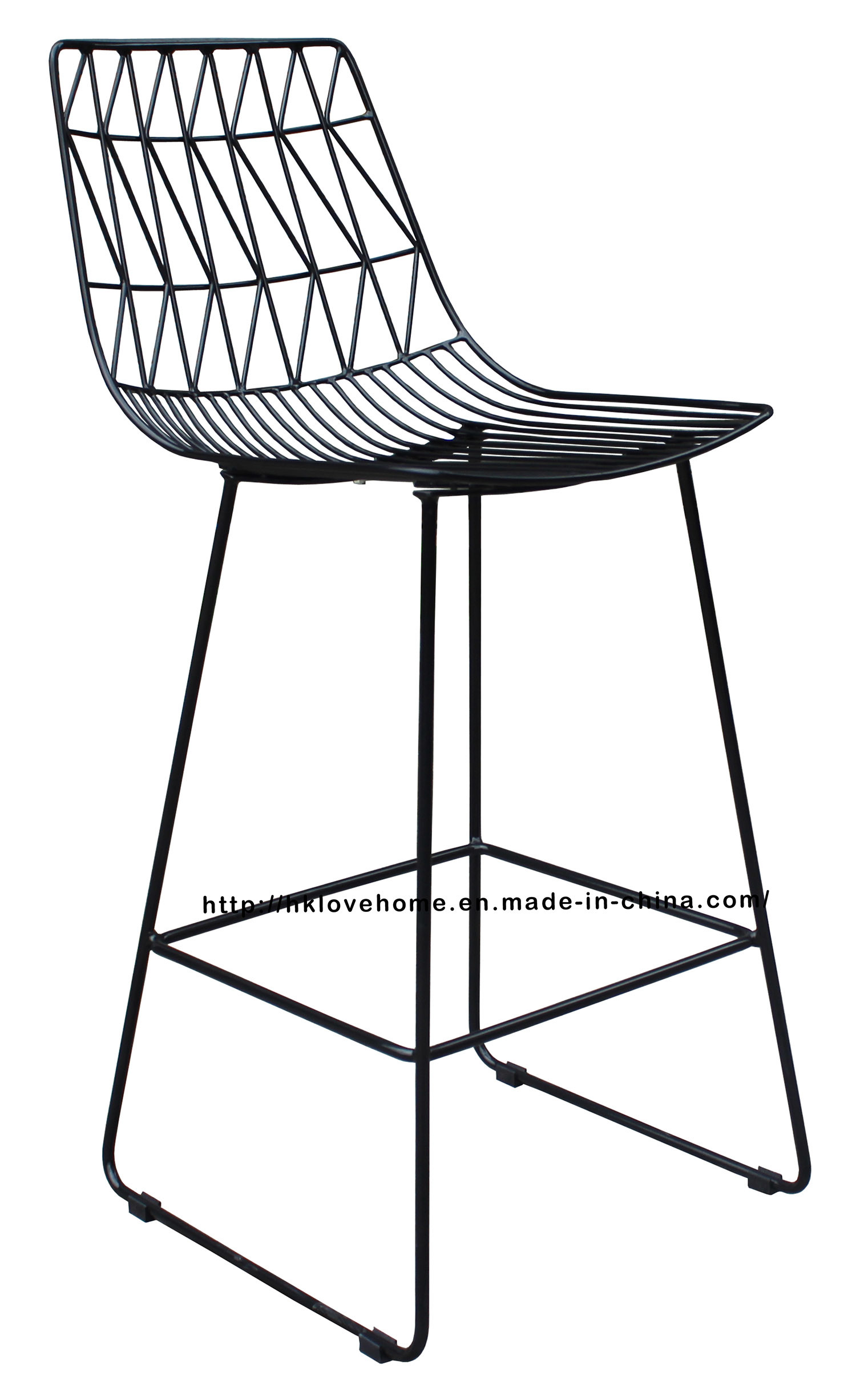 Modern Classic Metal Dining Side Wire Bar Chairs