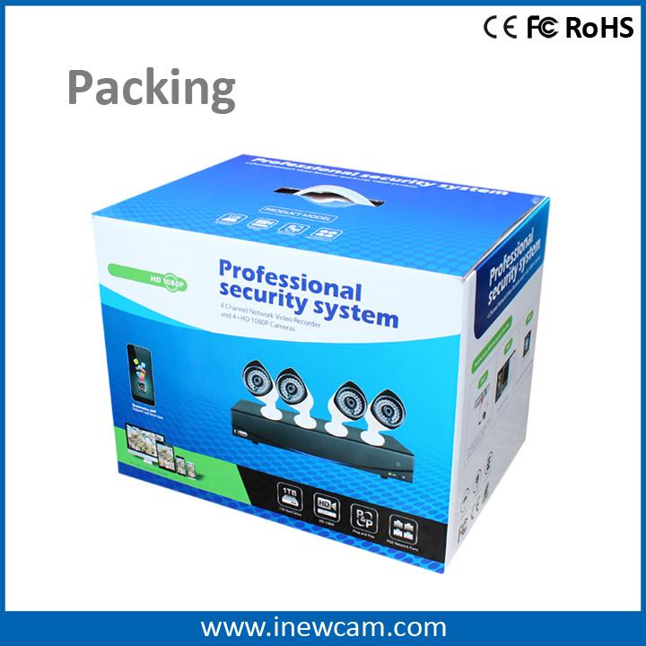 Outdoor 1080P Poe 4CH CCTV IP Camera Video Surveillance System