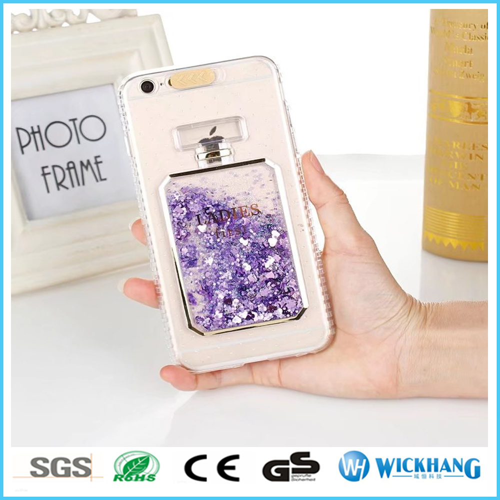 Incoming Call LED Flash Lighting 3D Lady Bling Shockproof TPU Case for iPhone 6 7
