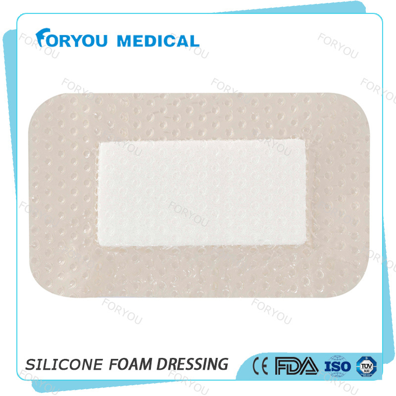 Surgical Wound Dressing Polyurethane Adhesive Foam Dressing 4 X 4 Inch - Sterile