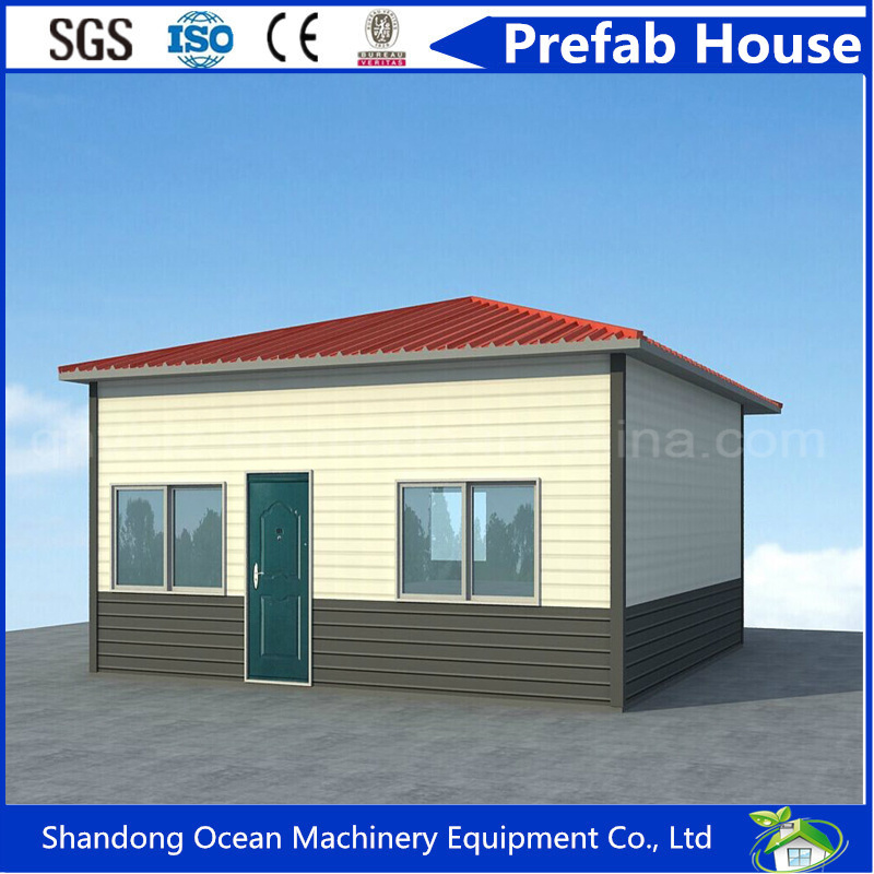 Flexible Style Beautiful Prefab House with Comfortable Design of Light Steel Structure