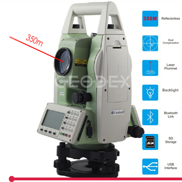 350m Reflectorless Total Station Precision Measuring Instrument