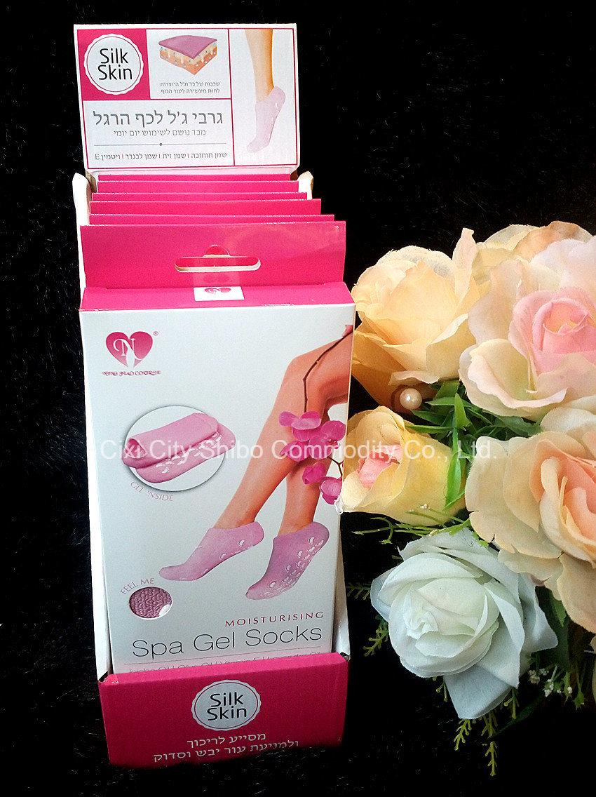 Foot Care Tools Skin Moisturizing Treatment Skin Moisturizer Gel Socks, Anti-Slip SPA Gel Foot Socks