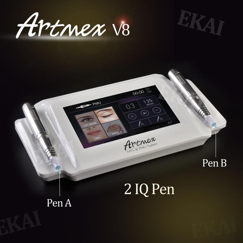 Double Pen Digital Permanent Makeup Machine, Dermapen Microneedle Kit