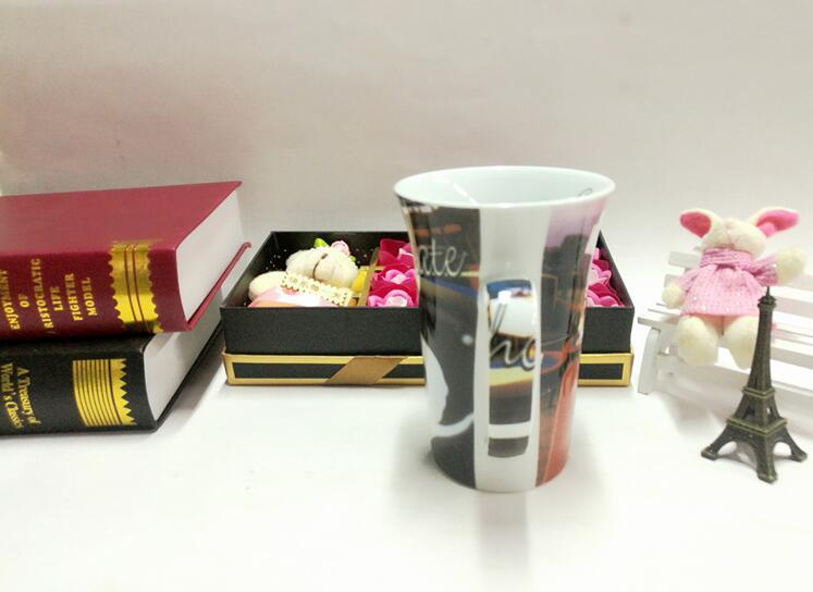 Custom Printed Chinese Porcelain Couple Cup for Valentine′s Day