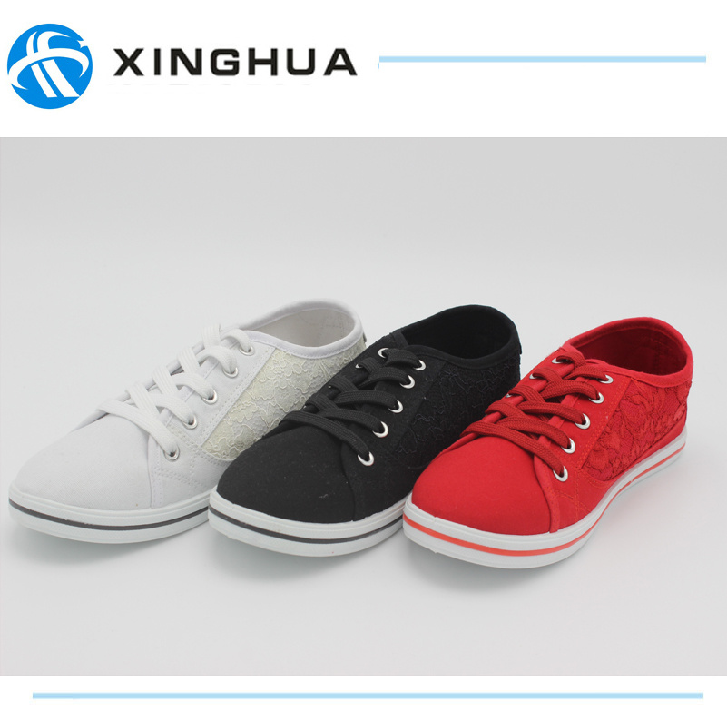 New Style With Lace Canvas Casual Shoes