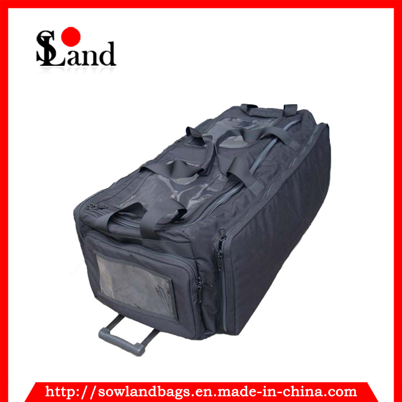 Black Military Navy Trolley Tool Luggage Bag