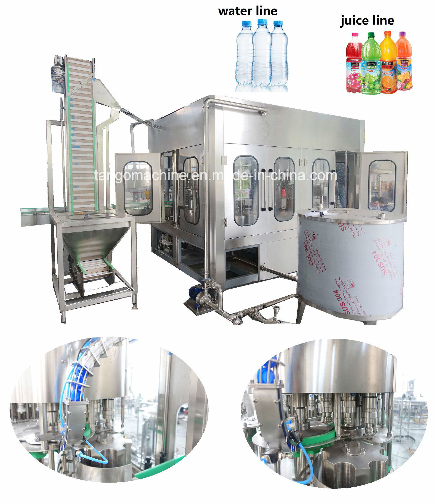 Complete Turn-Key Auto Liquid Pet Bottle Filling Water Bottling Plant Machine Packing Production Line