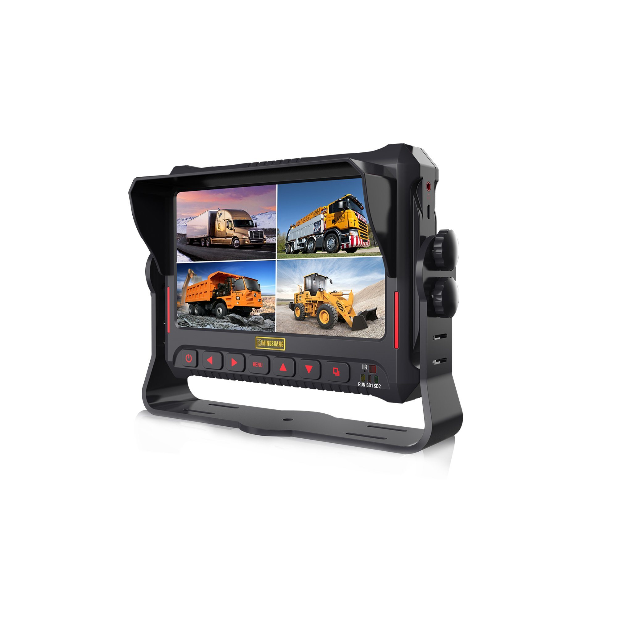 7 Inch Digital Video Monitor with DVR for Vehicles Buses