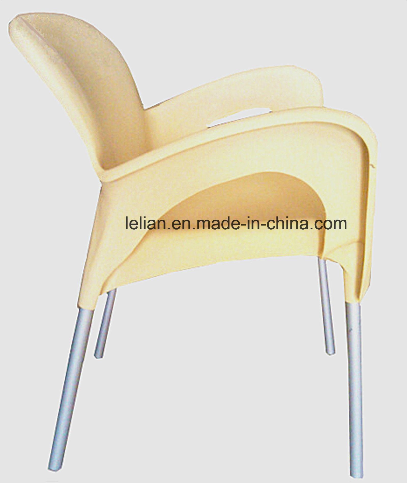 Lola Outdoor Stacking Arm Chair in Cream (LL-0050)