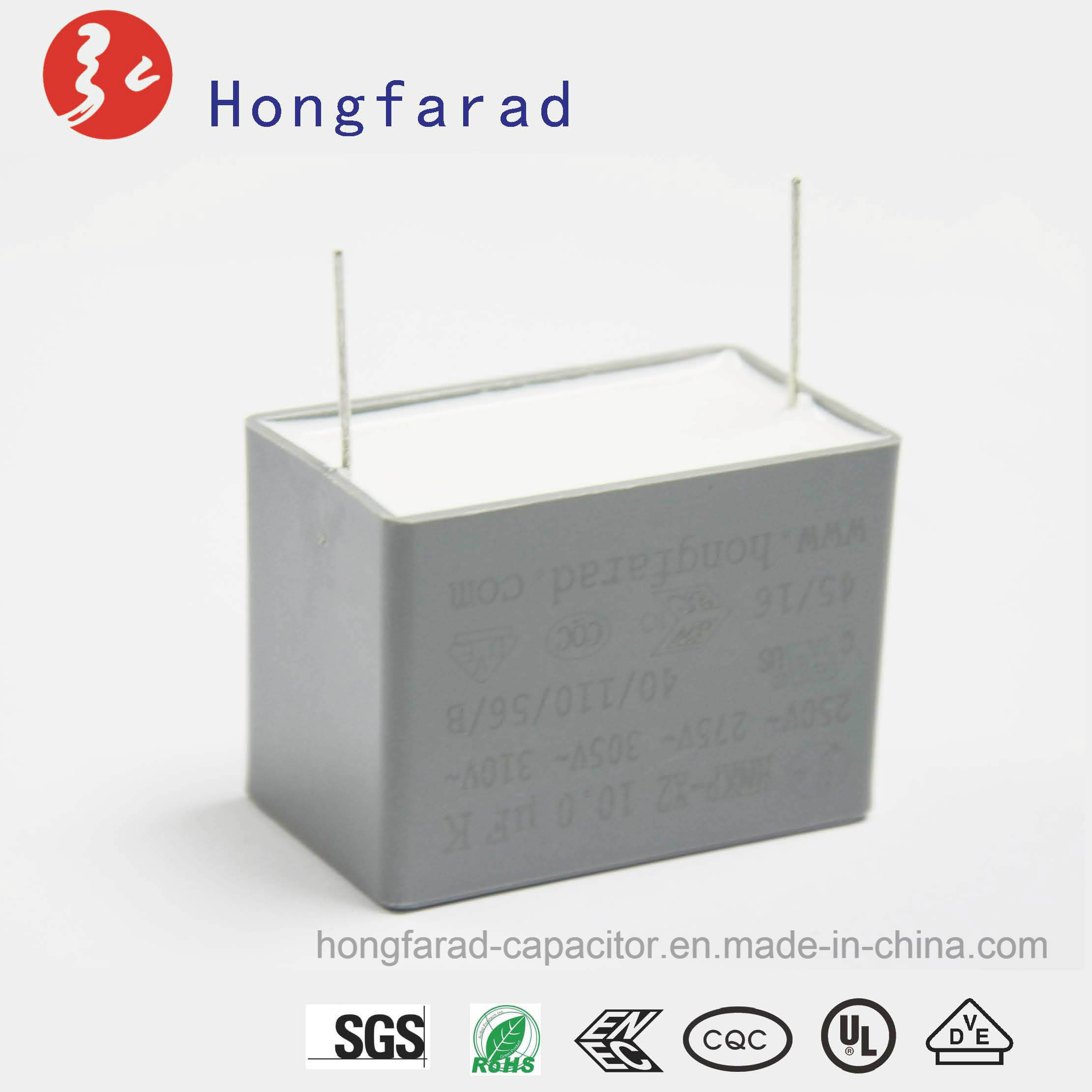 MKP X2 Metallized Polypropylene Film Capacitor with Safety Approvals