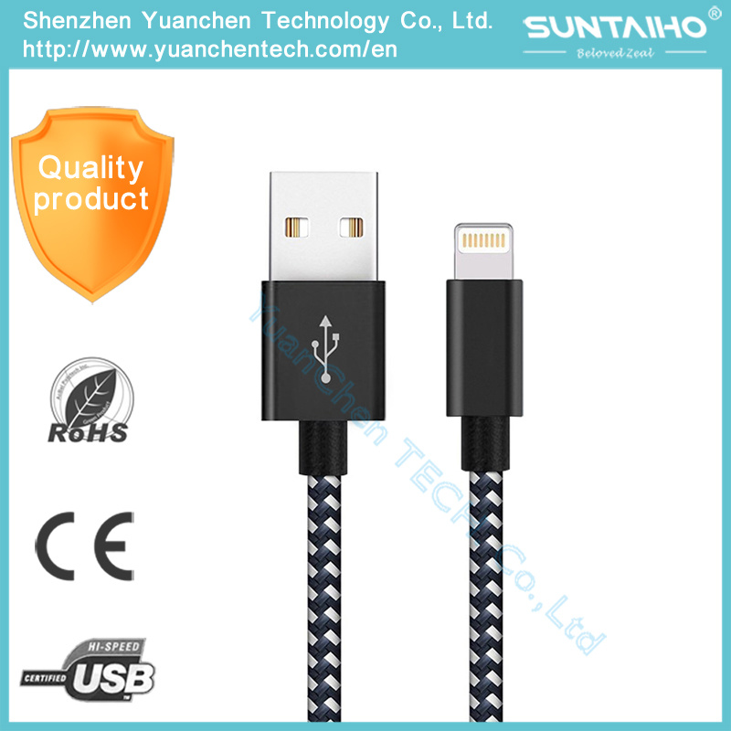 New Nylon Braided Micro USB Data Fast Charging Cable for iPhone 7/6/5