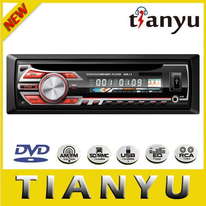 FM/USB/SD/Aux in/DVD/CD/VCD/ID3/WMA/MP4/MP3 Detachable Auto DVD Player Car Amplifier Radio
