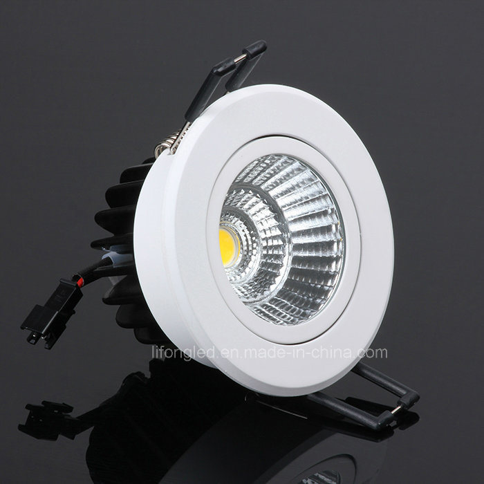 Recessed LED Downlight COB 7W with Ce, RoHS, SAA, EMC, LVD Certification
