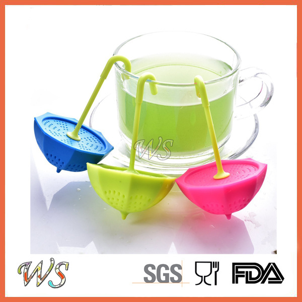 Ws-If064 Food Grade Silicone Umbrella Tea Infuser Leaf Strainer for Mug Cup, Tea Pot