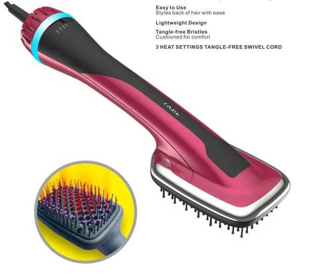 New Fasiz One-Step Hair Dryer and Styler with Straightener Brush