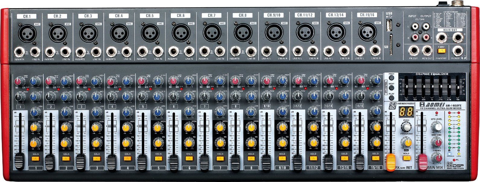 Special Popular Design Smaller Mixer Am-502fx Series Professional Amplifier