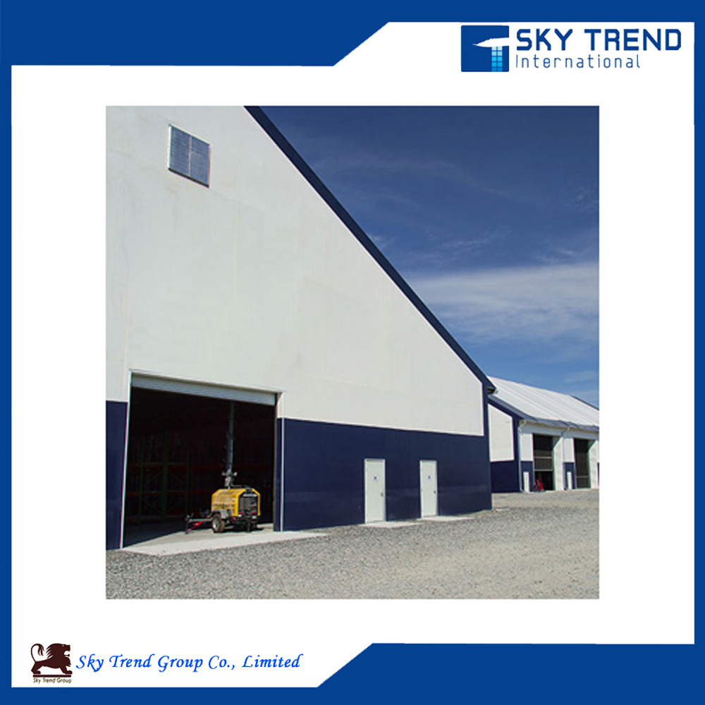 Large Span Prefabricated Steel Structures House Industrial Steel Buildings with Insulation Panel