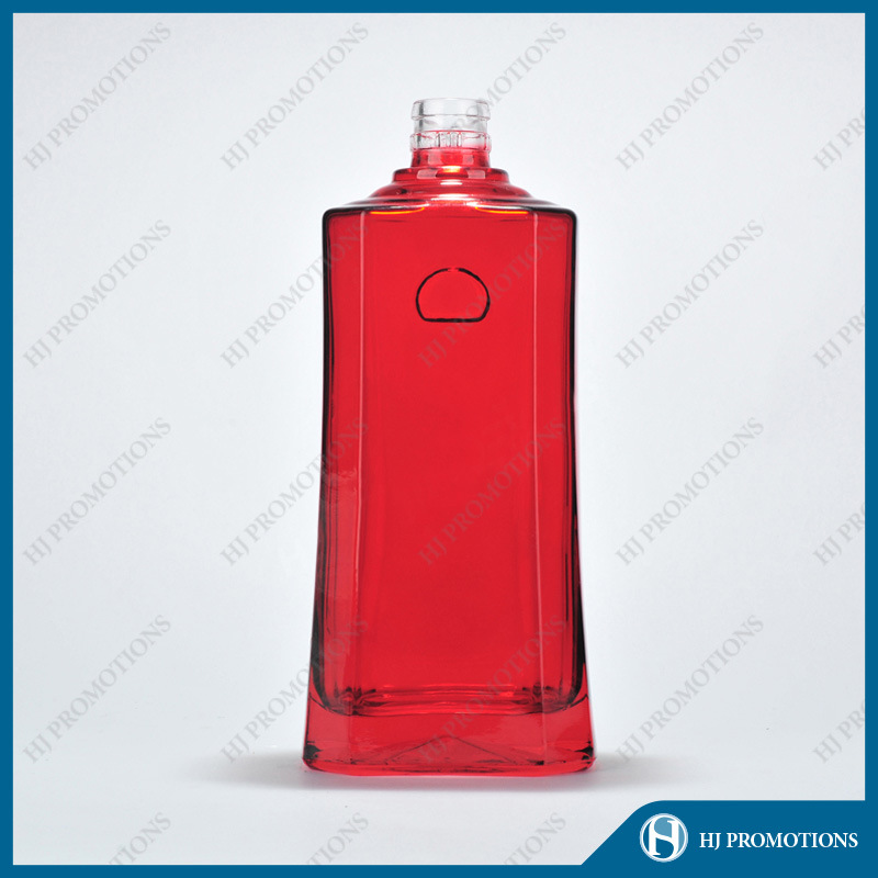 500ml Red Glassware Spirit Bottle (HJ-GYSN-A03)