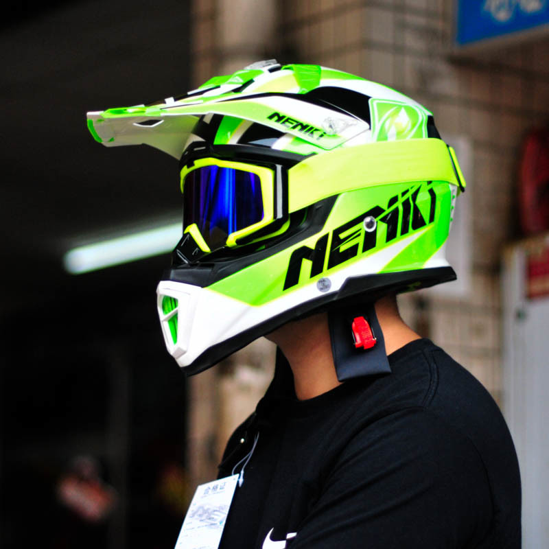 Full Face Motorcycle Helmet for Motocross of Fiber Reinforced Plastics Material