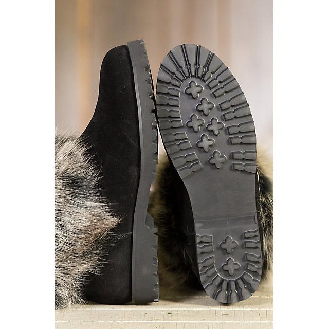 Women′s Neve Shearling Sheepskin Boots with Fox Fur Trim
