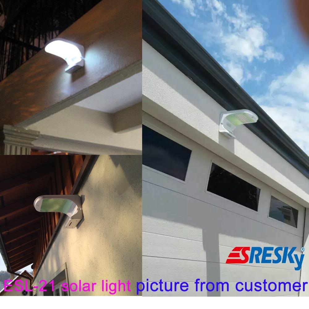 Motion Sensor LED Solar Light Wall Garden Home Light with Battery Backup
