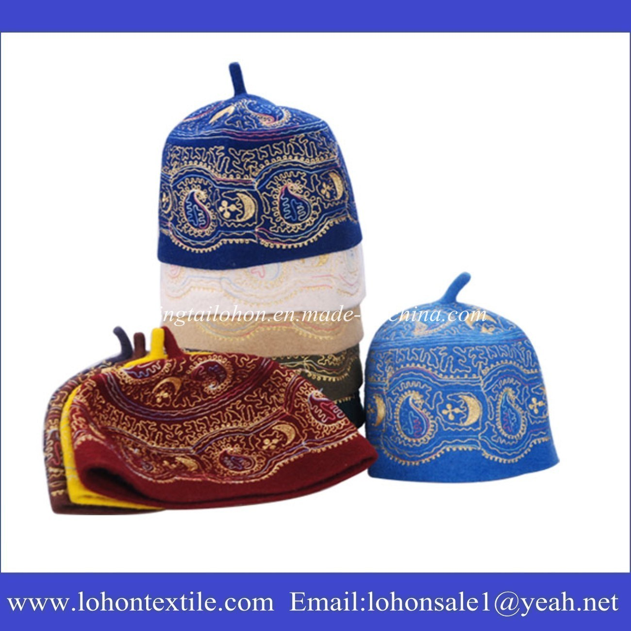 100% Wool Material Muslim Hat for Man and Woman Arabic Hat Cap