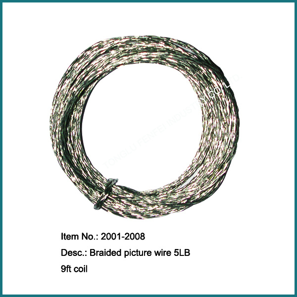 Galvanize Braided Picture Hanging Wires