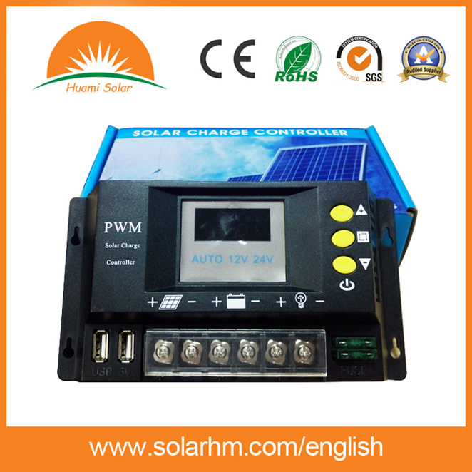 12V 24V Auto 20A Solar Charge Controller for PV Battery