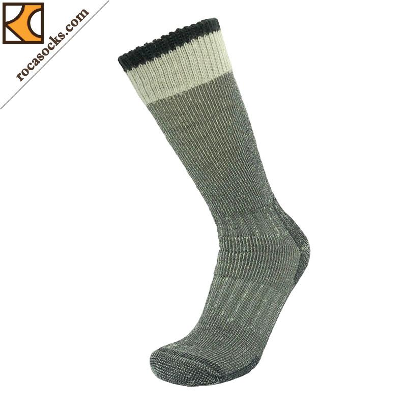 Double Cuff Merino Wool Gumboot Socks of Men (161007SK)