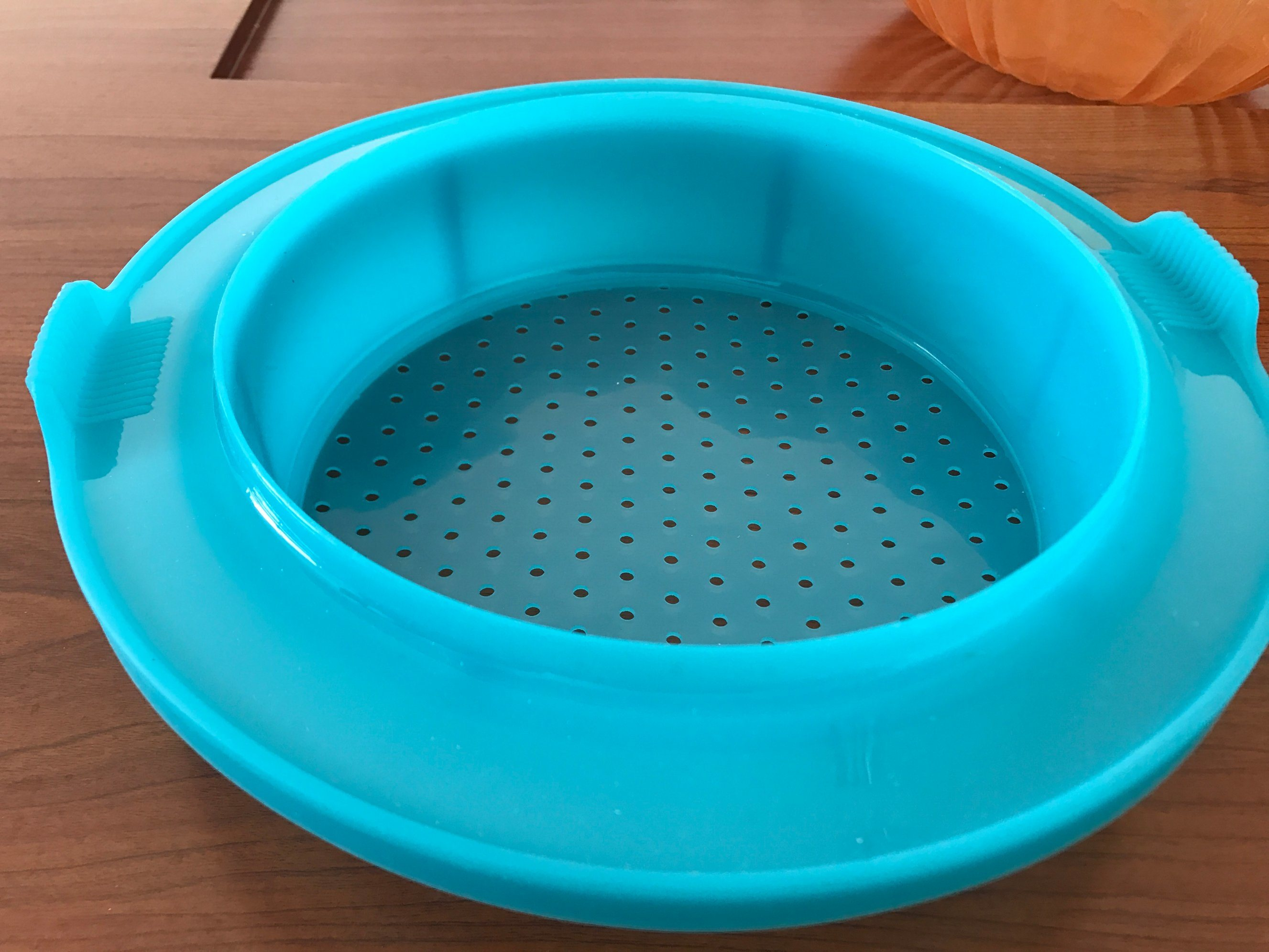 Food Grade Plastic Platinum Silicone Food Steaming Basket/Container