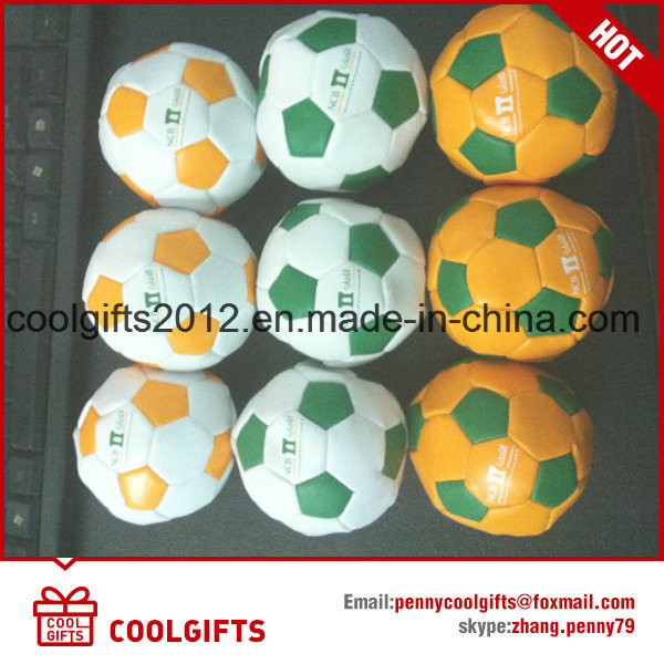 Newest Softpu Leather Kick Football, Juggling Hacky Sack Ball