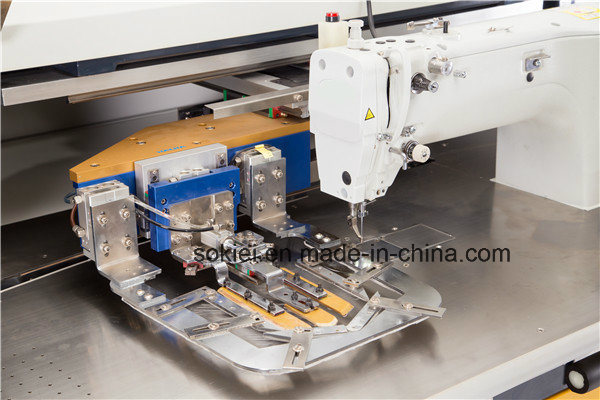 Fully Automatic Intelligent CNC No-Iron Patch Pocket Sewing Machine for Jean Shirt