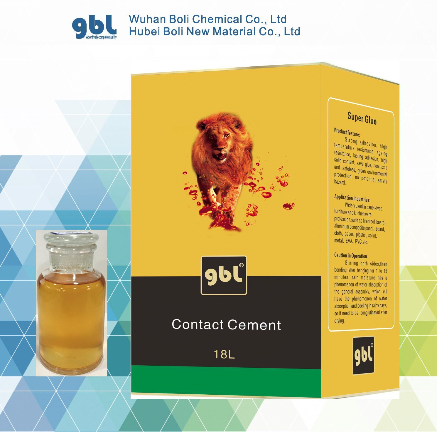 China Supplier GBL Super Contact Glue #46 All Purposed Adhesive