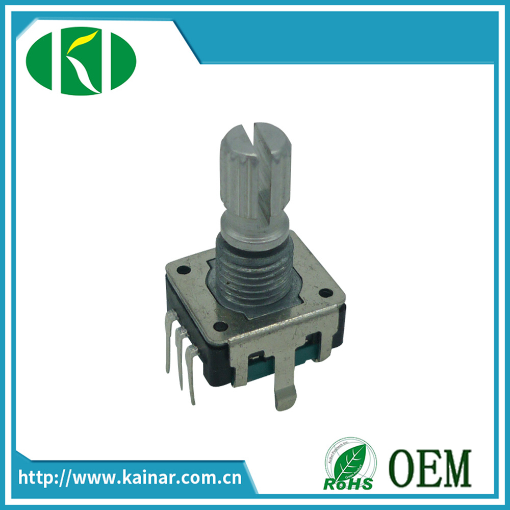 12mm Rotary Encoder with Push on Switch for Multi-Speaker Ec12-1d
