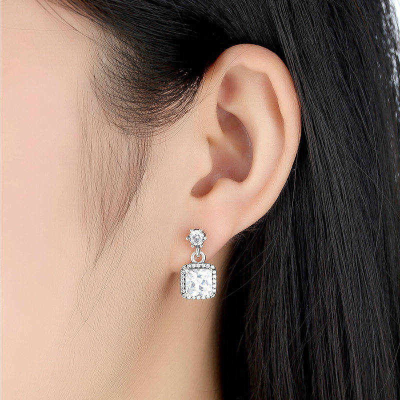 CZ 925 Sterling Silver Earrings