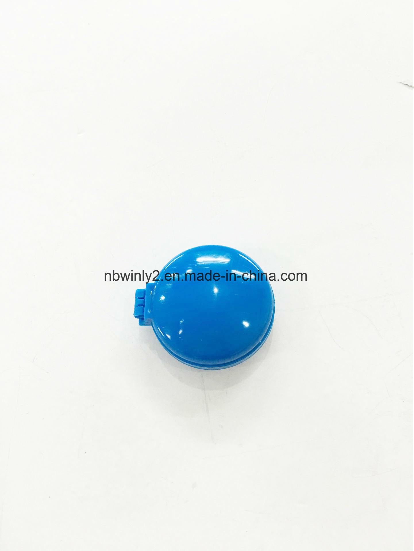 Round Foldable Mini Plastic Brush with Mirror