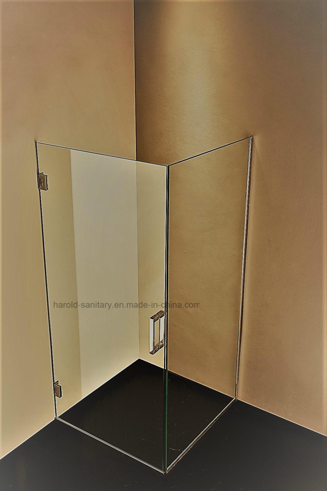 NA-07 Frameless Hinge Open Shower Enclosure