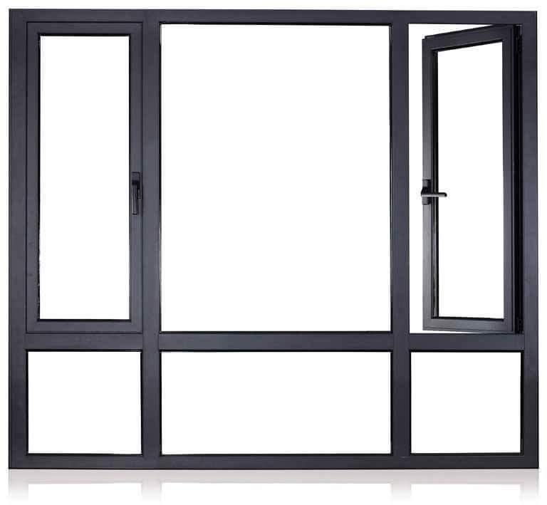 Customs Aluminum Glass Window with Double Glazing