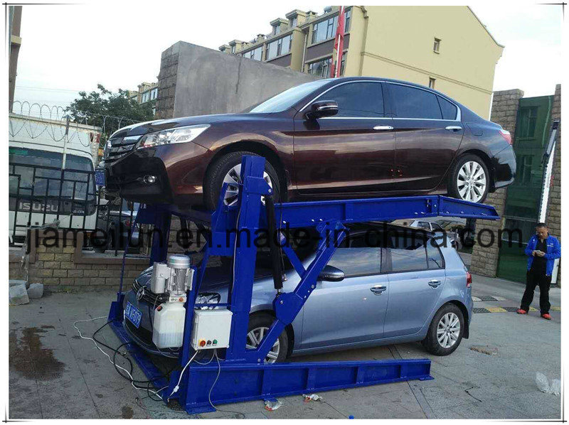 Two Post Tilting Home Garage 2 Levels Parking Lift